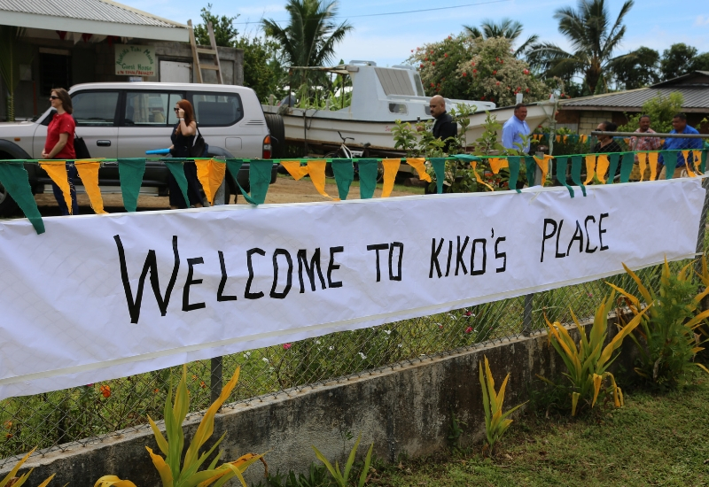 "Sign that says ""Welcome to Kiko's place"""