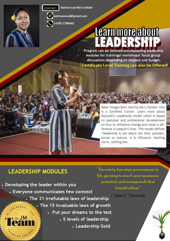 Leaflet of Leadership Program information.